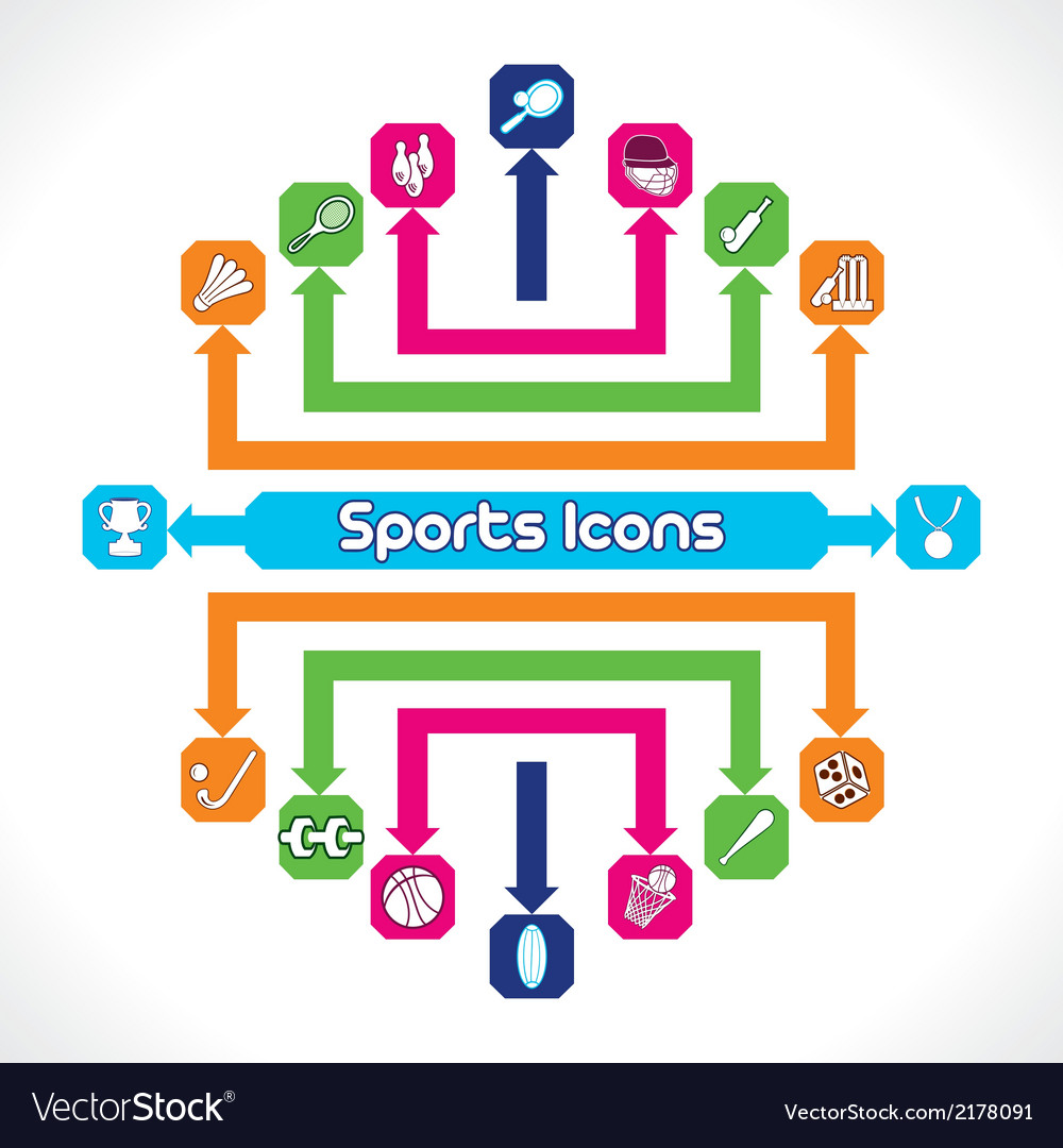 Set of sports icons vector | Price: 1 Credit (USD $1)