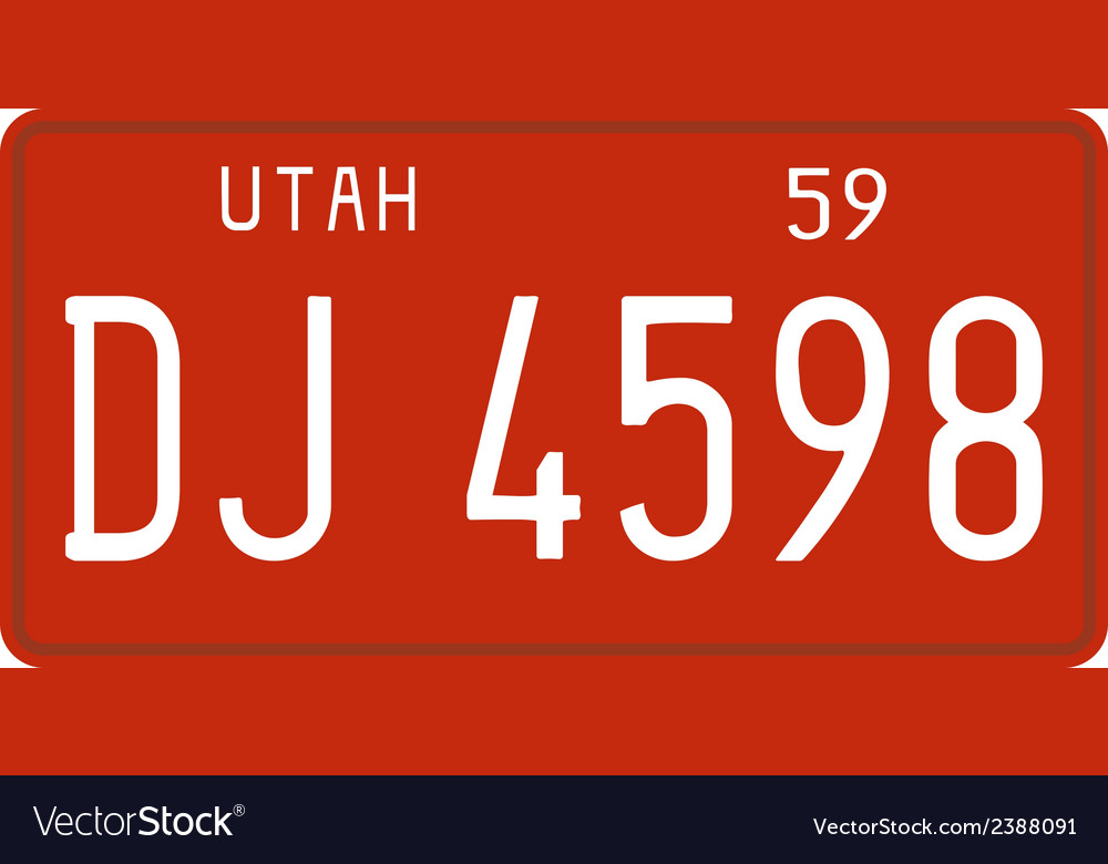 Utah 1959 license plate vector | Price: 1 Credit (USD $1)