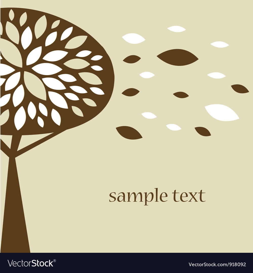 Abstract tree autumn background vector | Price: 1 Credit (USD $1)