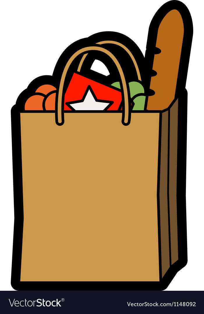 Bag of shopping vector | Price: 1 Credit (USD $1)