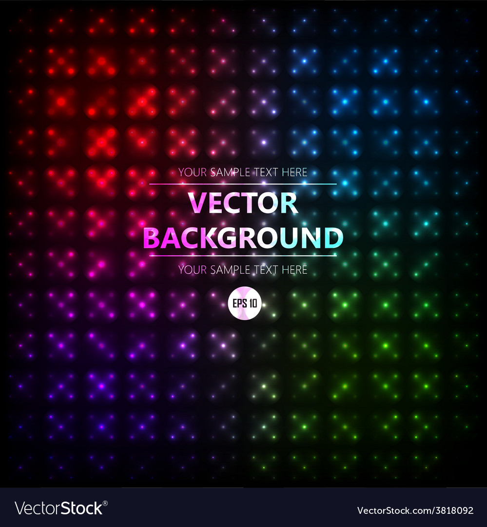 Disco colored abstraction background vector | Price: 1 Credit (USD $1)