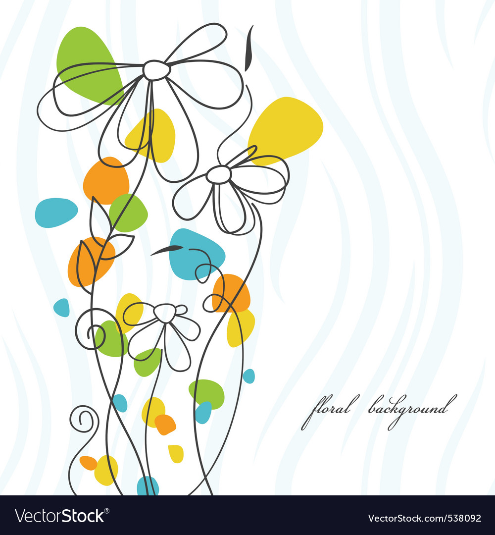 Flower card vector | Price: 1 Credit (USD $1)