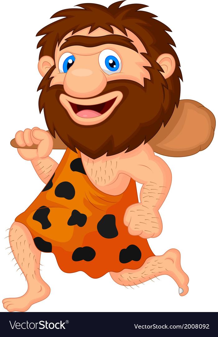 Funny caveman cartoon vector   Price: 1 Credit (USD $1)