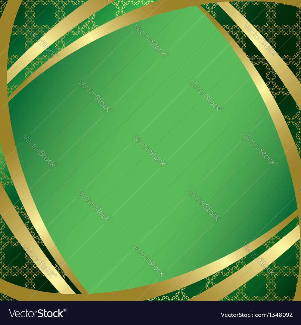 Green frame with center gradient vector | Price: 1 Credit (USD $1)