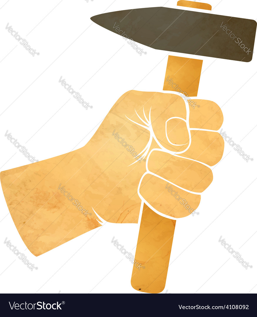 Hand and hammer vector | Price: 1 Credit (USD $1)