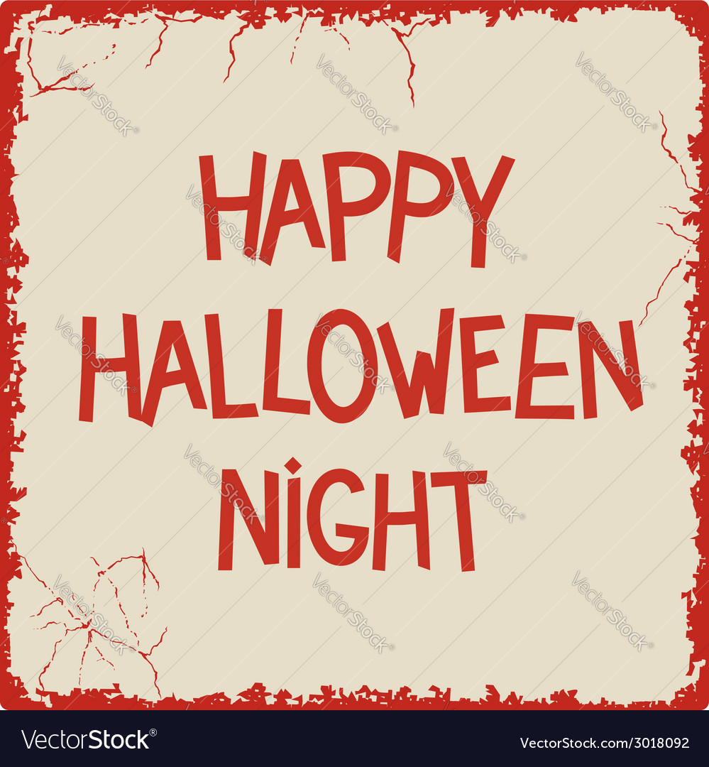 Happy halloween night vector | Price: 1 Credit (USD $1)