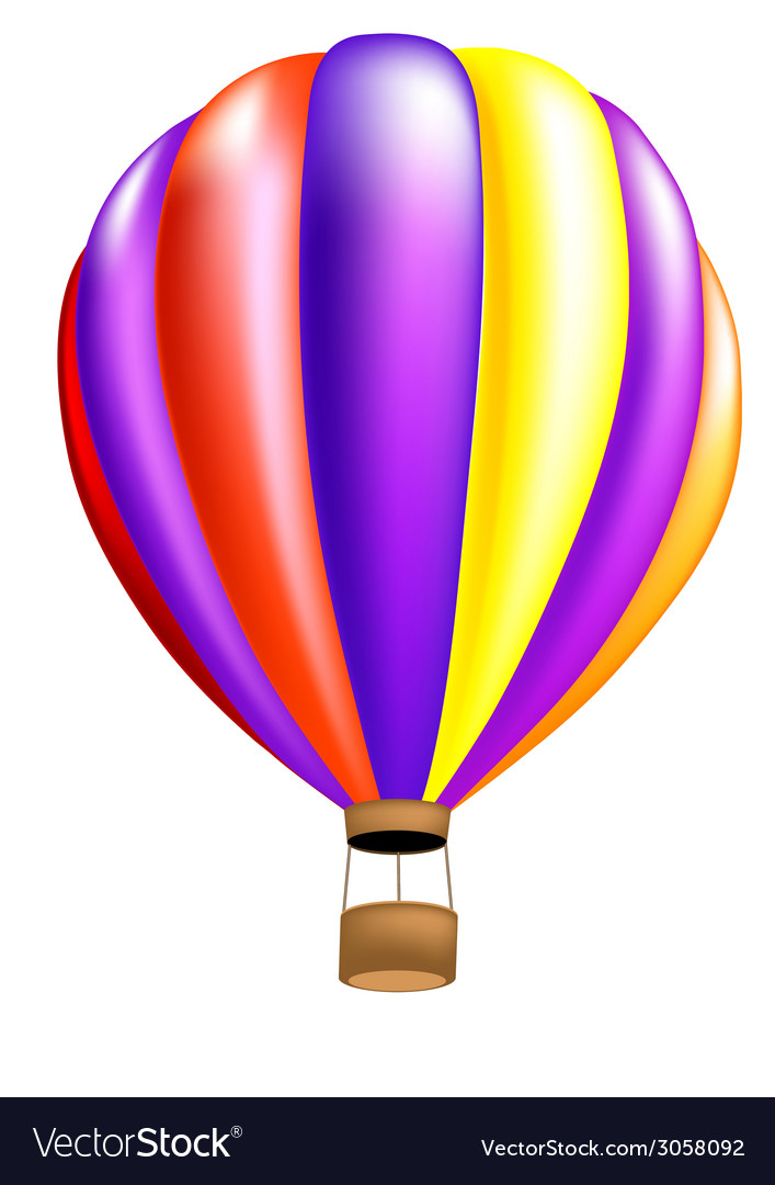 Hot air balloon colorful vector | Price: 1 Credit (USD $1)