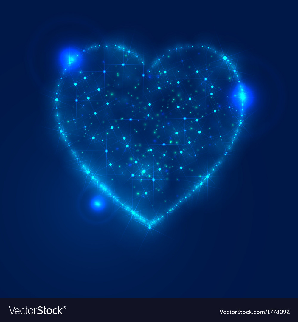 Love heart background from beautiful bright stars vector | Price: 1 Credit (USD $1)