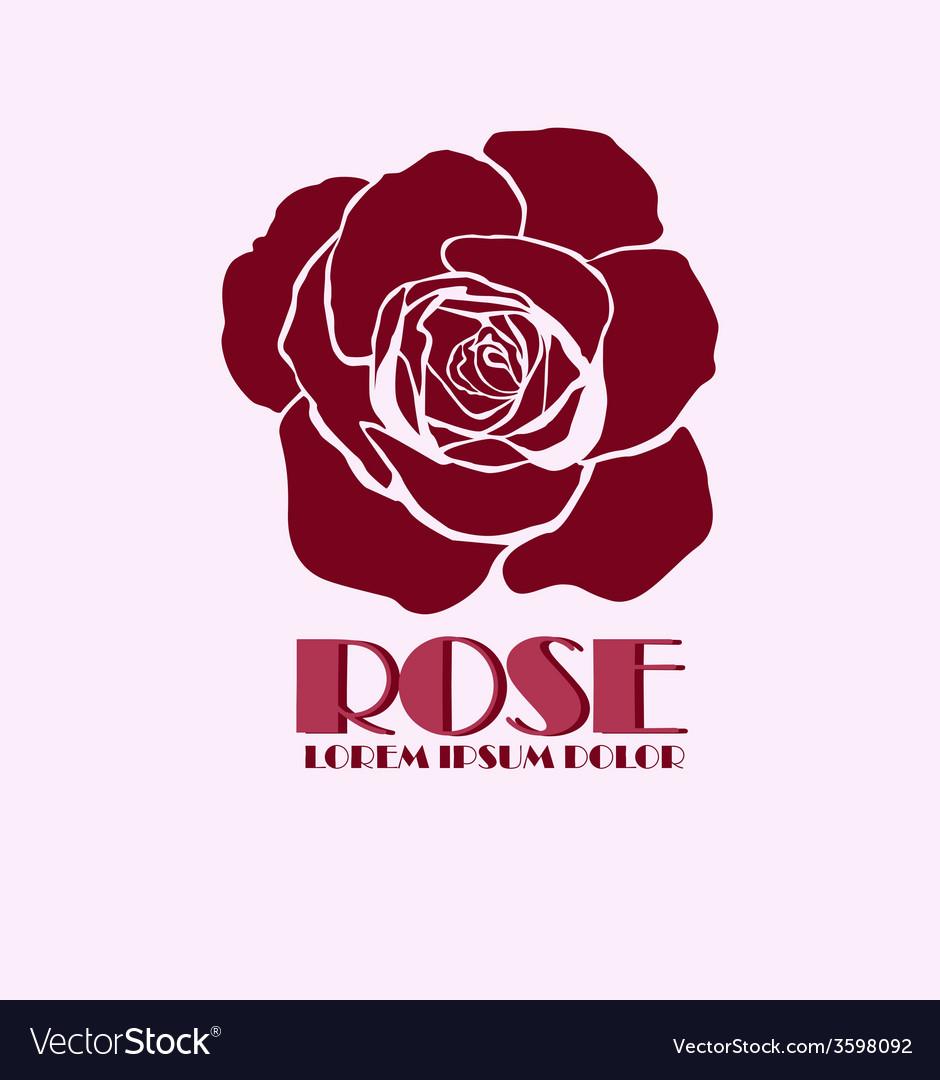 Rose logo design template vector   Price: 1 Credit (USD $1)