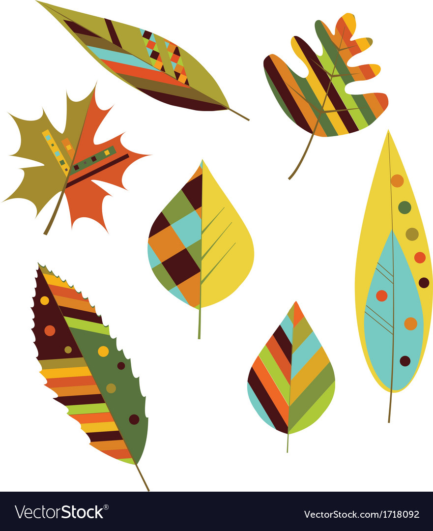 Seamless colourful autumn leaves vector | Price: 1 Credit (USD $1)