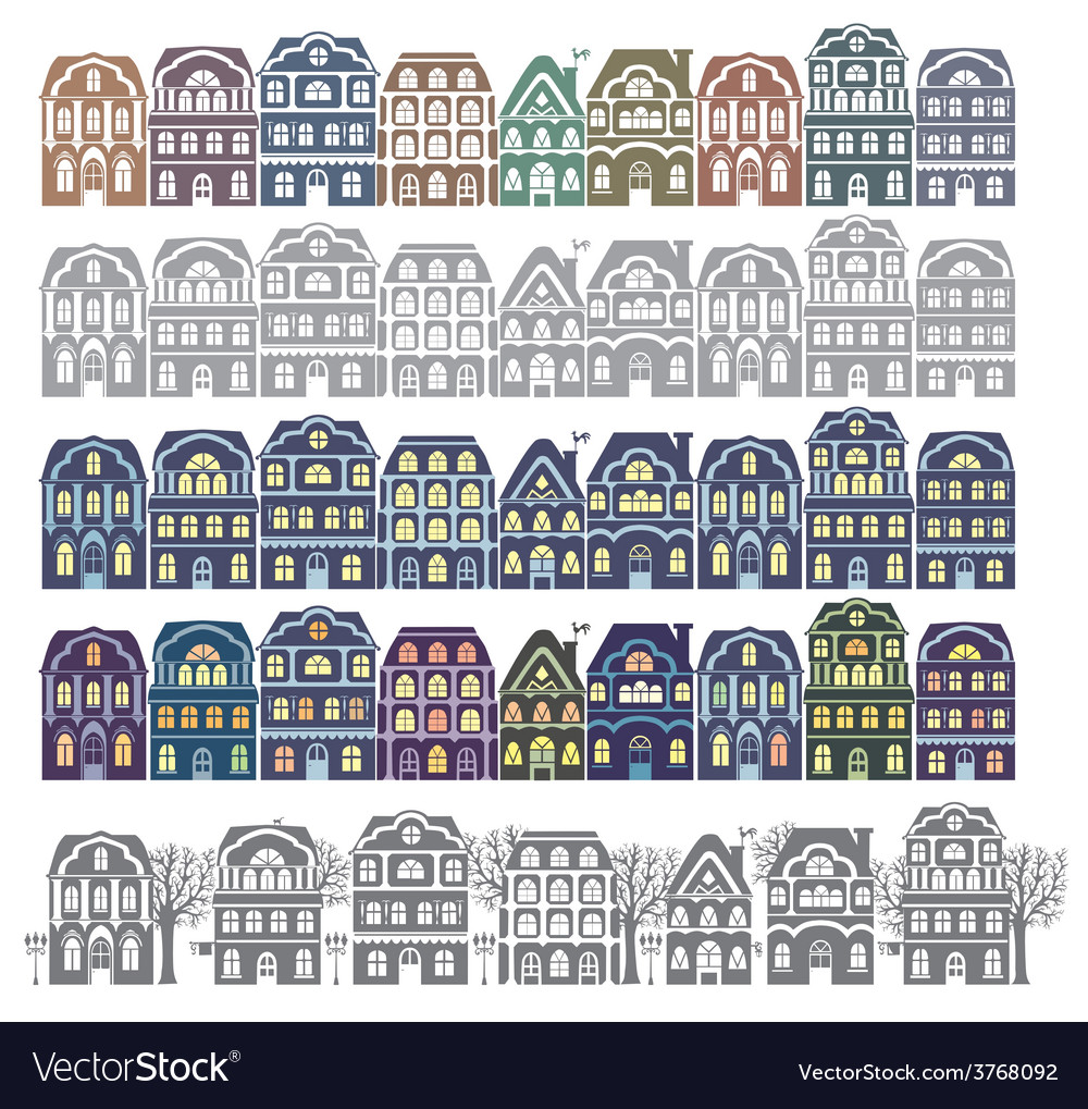 Silhouette city street vector | Price: 1 Credit (USD $1)