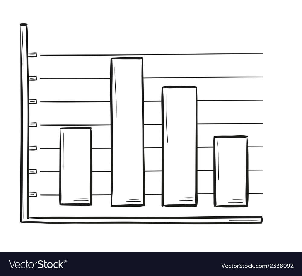 Sketch of the bar chart vector | Price: 1 Credit (USD $1)