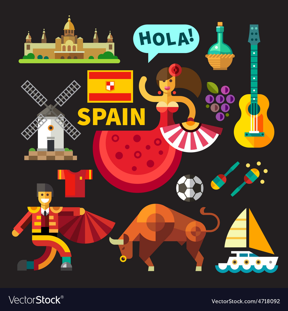 Spain vector | Price: 3 Credit (USD $3)