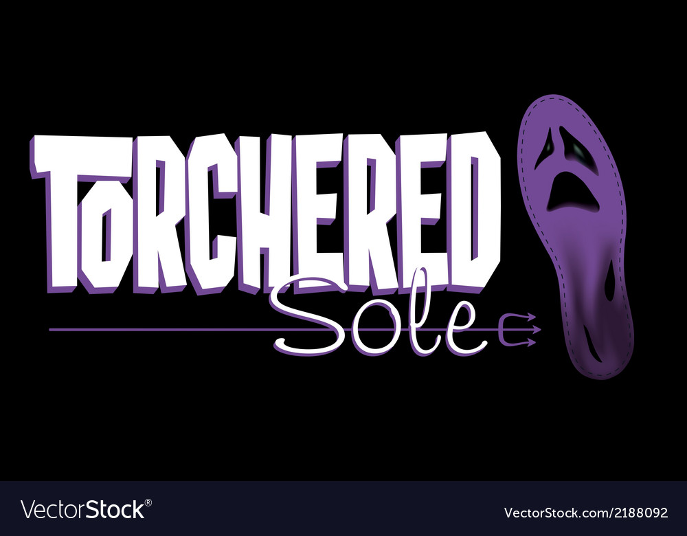 Torchered sole vector | Price: 1 Credit (USD $1)