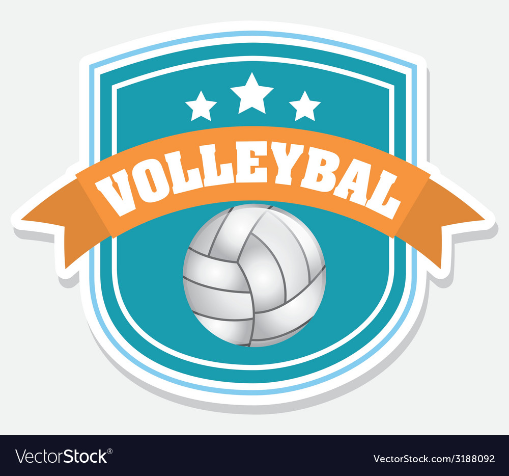 Volleyball design vector | Price: 1 Credit (USD $1)