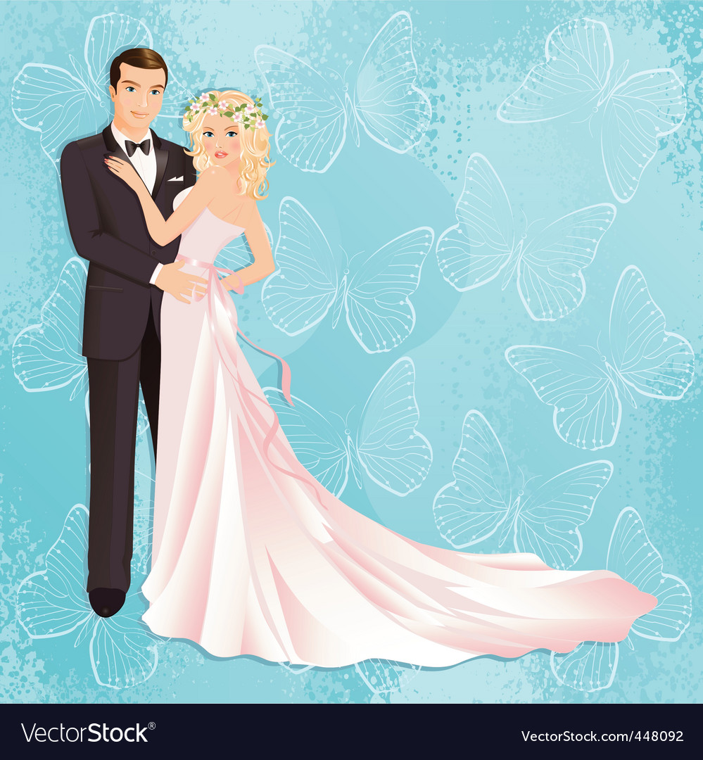 Wedding couple vector | Price: 5 Credit (USD $5)