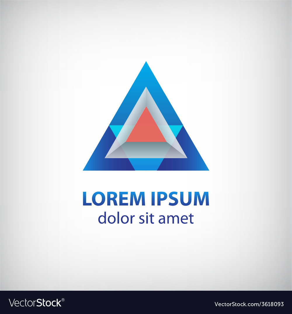 Abstract 3d colorful modern triangle logo vector | Price: 1 Credit (USD $1)