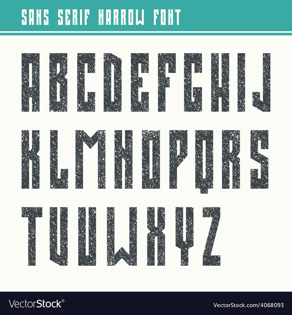 Bold sans serif font in retro style vector | Price: 1 Credit (USD $1)
