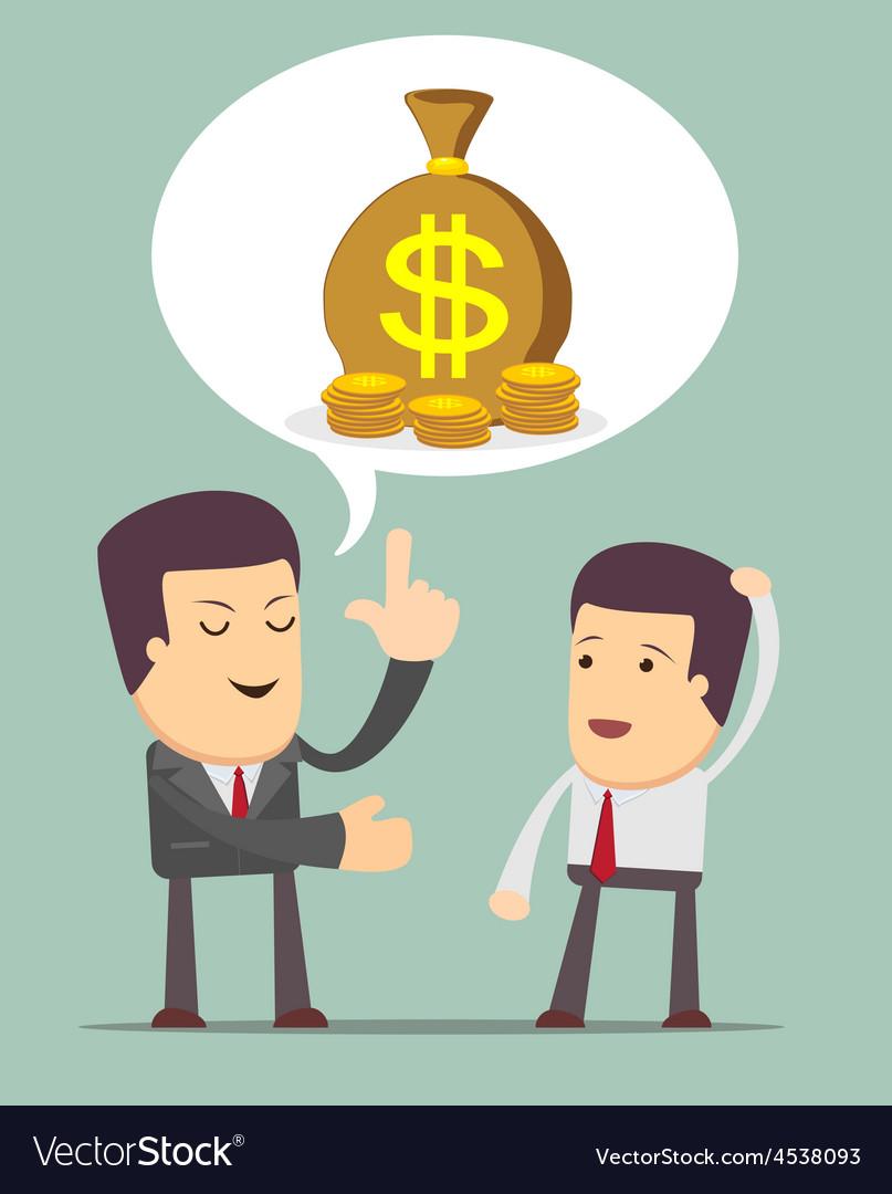 Businessmen discussion vector | Price: 1 Credit (USD $1)