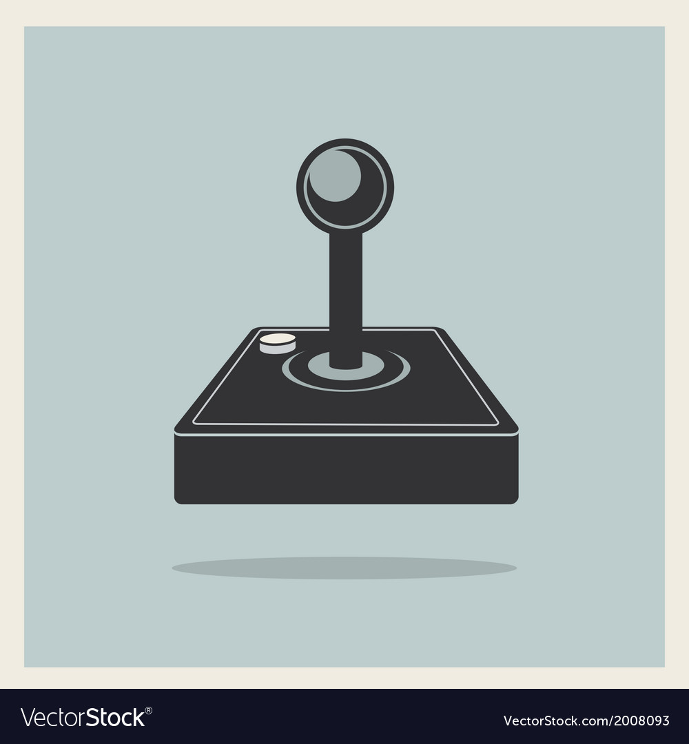 Computer video game joystick vector | Price: 1 Credit (USD $1)