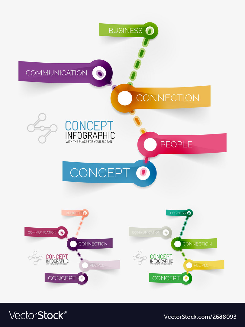 Connection theme keyword infographic vector | Price: 1 Credit (USD $1)
