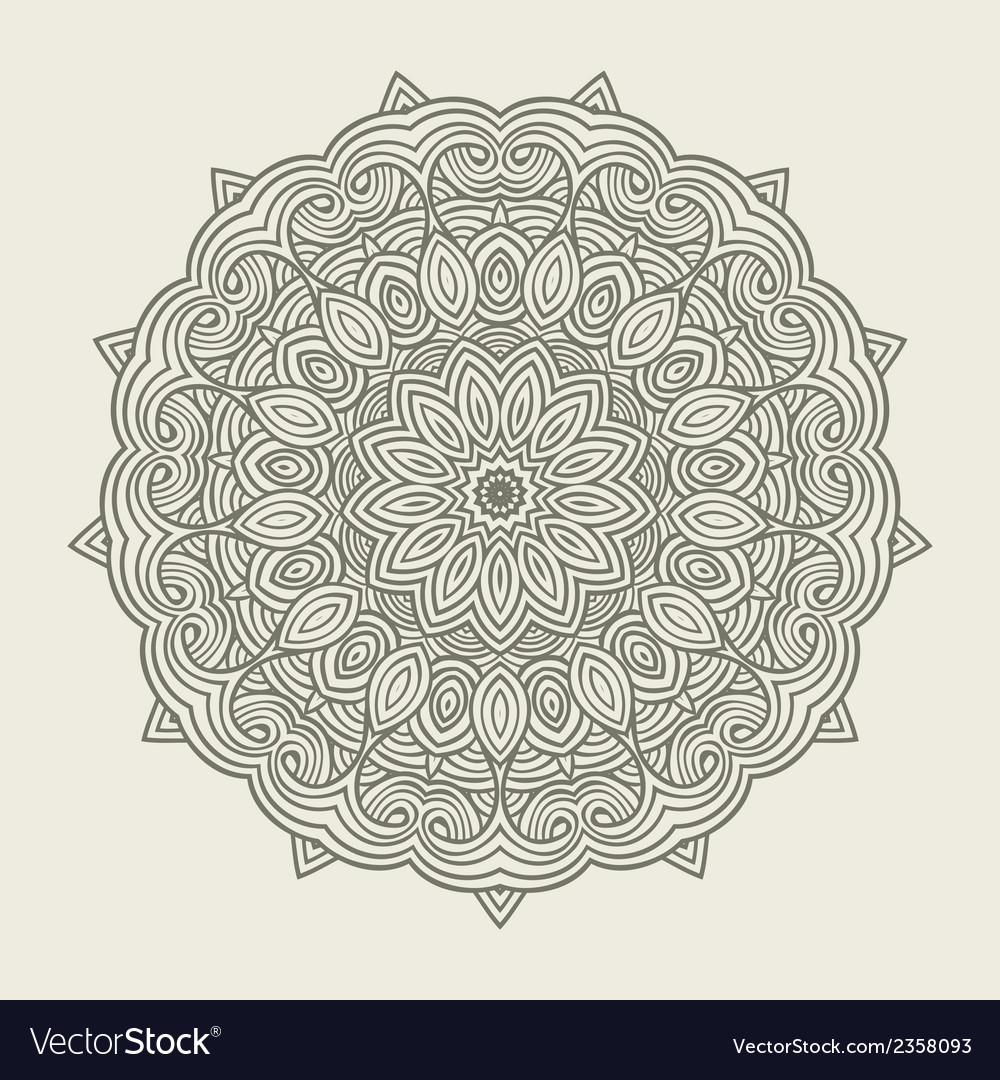 Contemporary doily round lace floral pattern vector | Price: 1 Credit (USD $1)