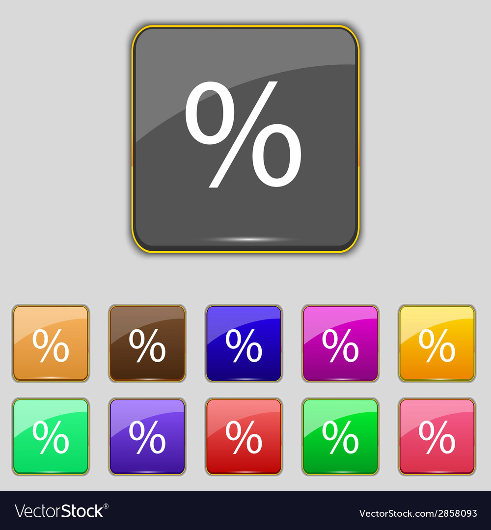 Discount percent sign icon modern interface vector | Price: 1 Credit (USD $1)