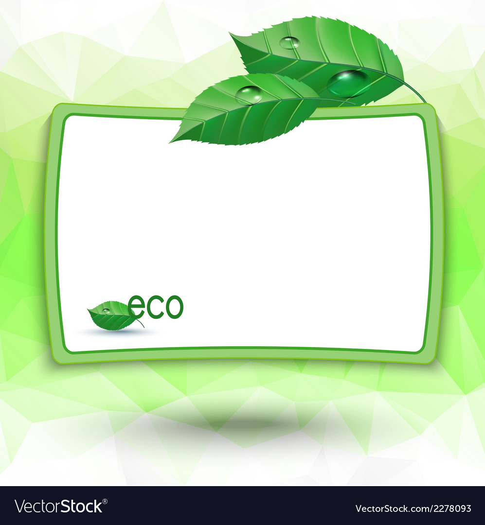 Eco background vector | Price: 1 Credit (USD $1)