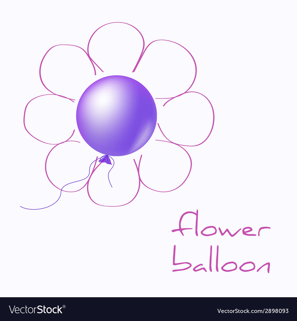 Flower balloon vector | Price: 1 Credit (USD $1)