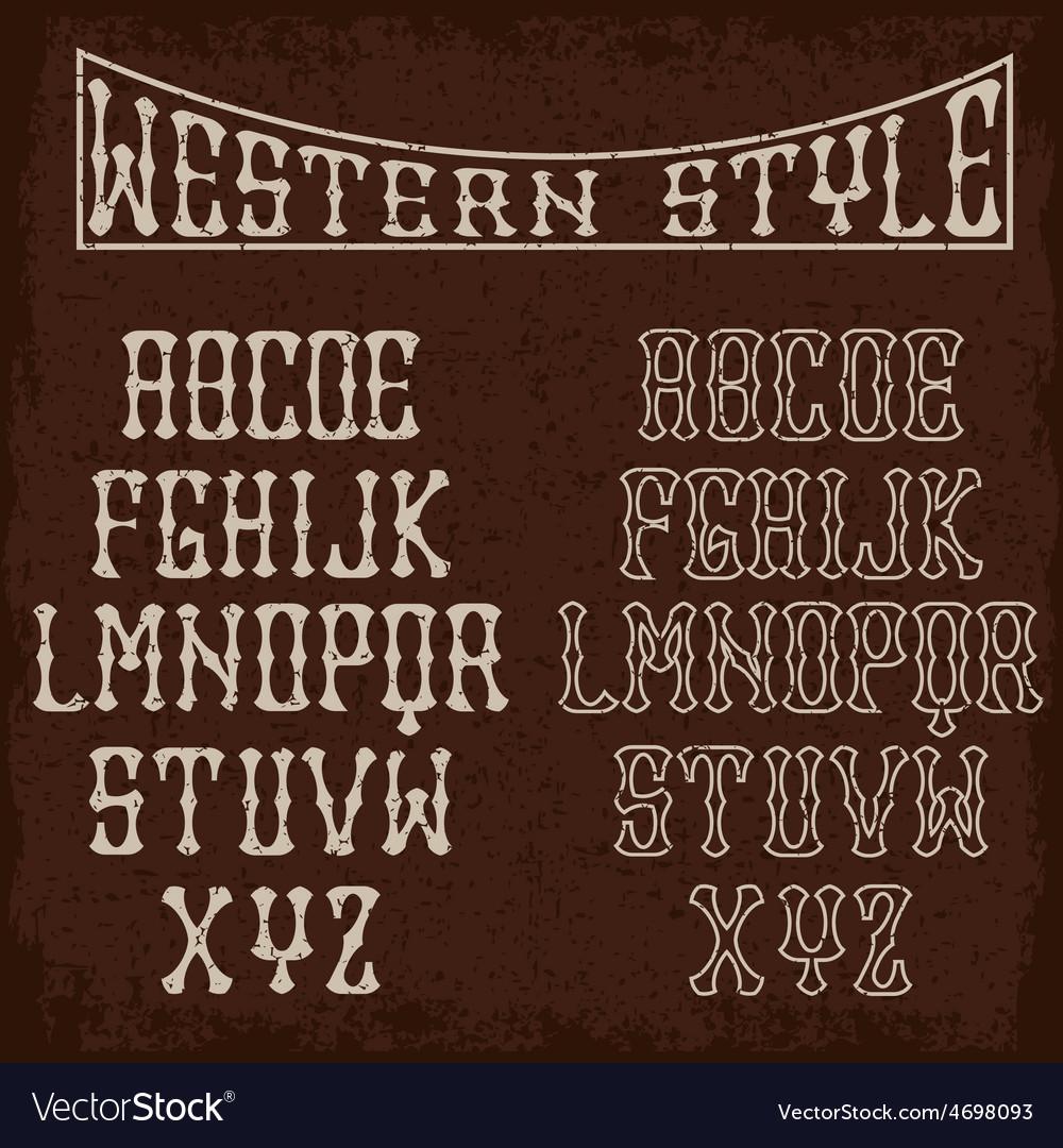 Grunge western alphabet vector | Price: 1 Credit (USD $1)