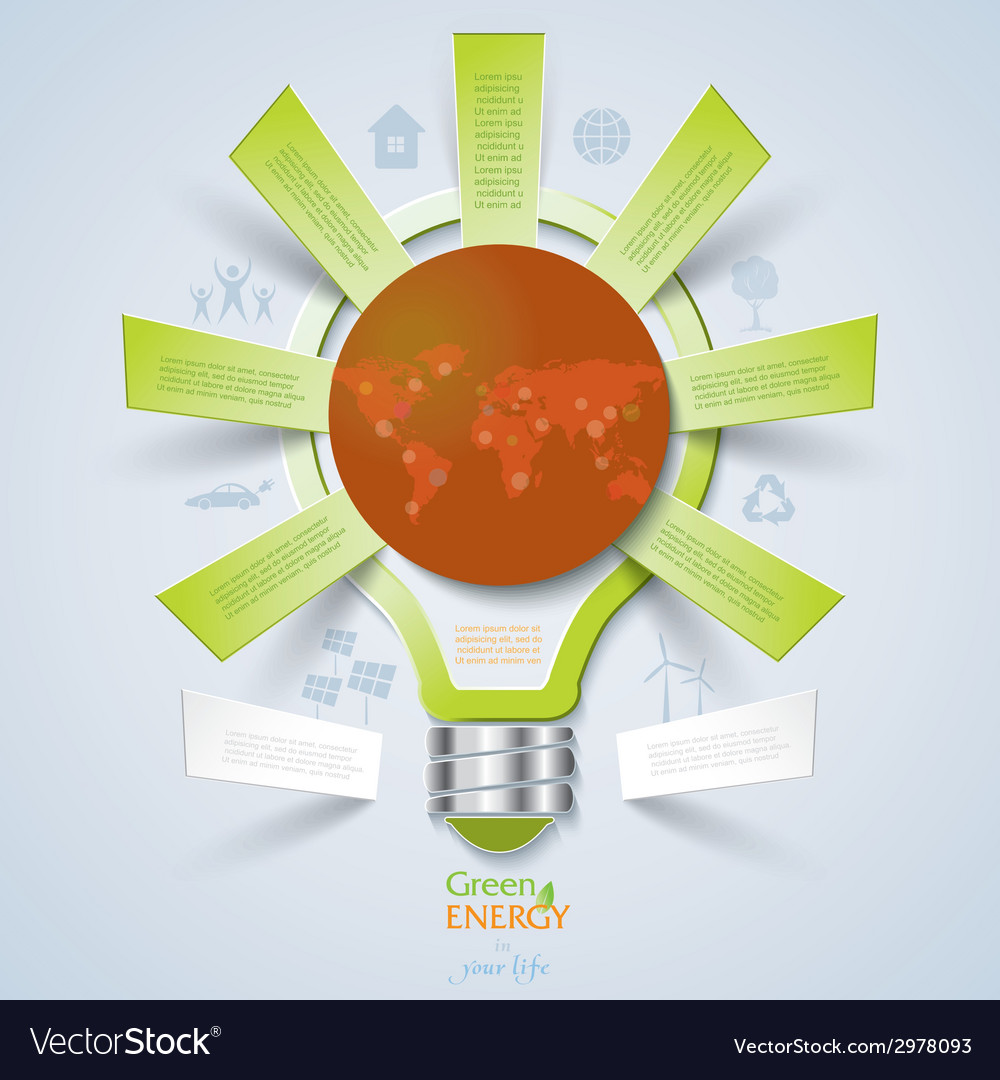 Modern design template with light bulb vector | Price: 1 Credit (USD $1)