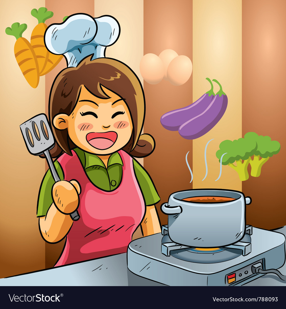 Mommy love cooking vector | Price: 5 Credit (USD $5)