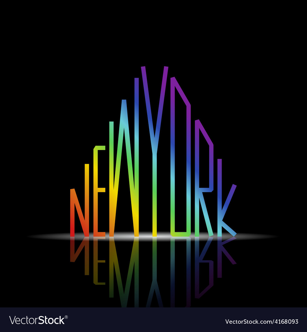 New york word in shape of the city vector | Price: 1 Credit (USD $1)