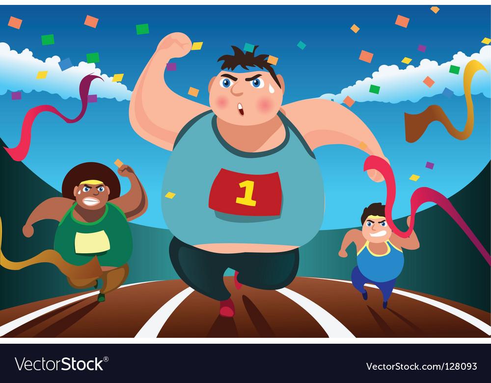 Running race vector   Price: 1 Credit (USD $1)