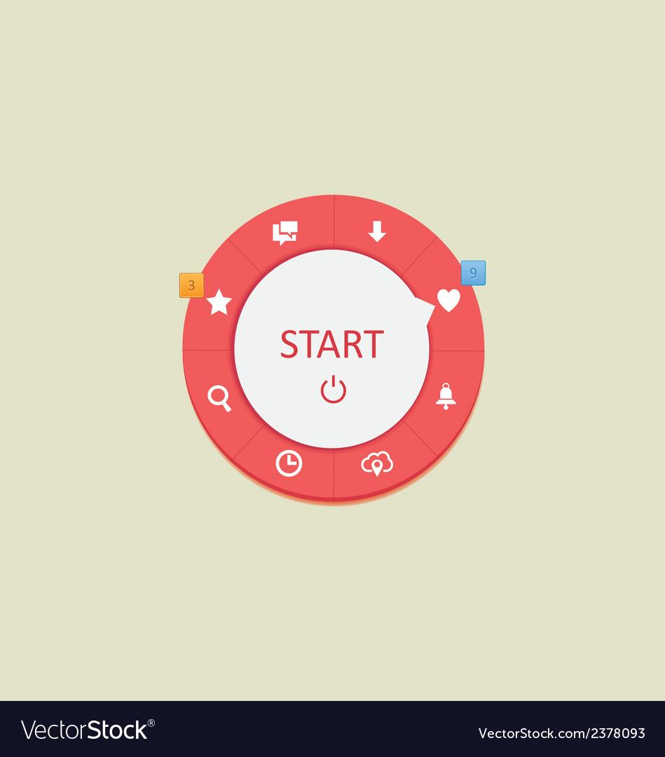 Web circle menus 2 vector   Price: 1 Credit (USD $1)