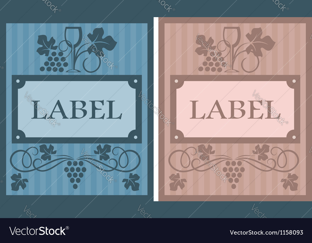 Wine labels in retro style vector | Price: 1 Credit (USD $1)