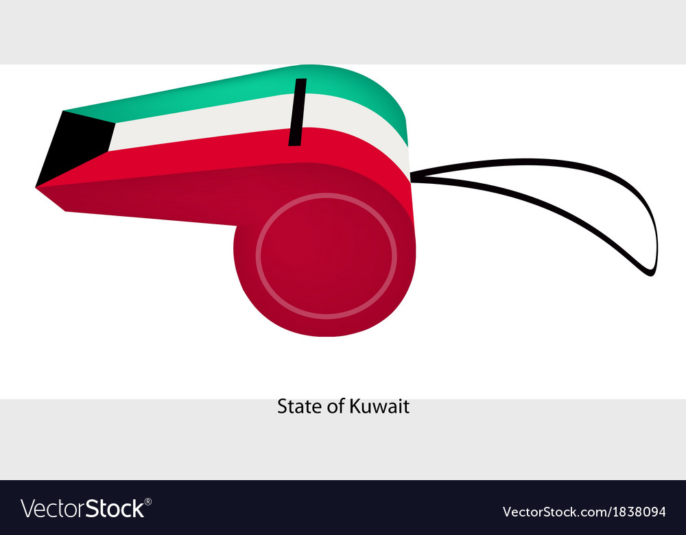 A whistle of the state of kuwait vector | Price: 1 Credit (USD $1)