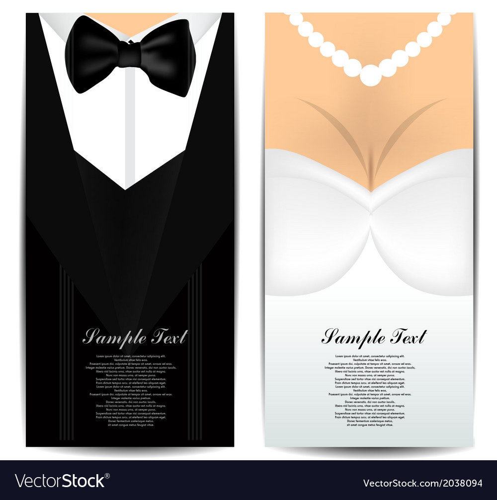 Bride and groom invitation vector | Price: 1 Credit (USD $1)