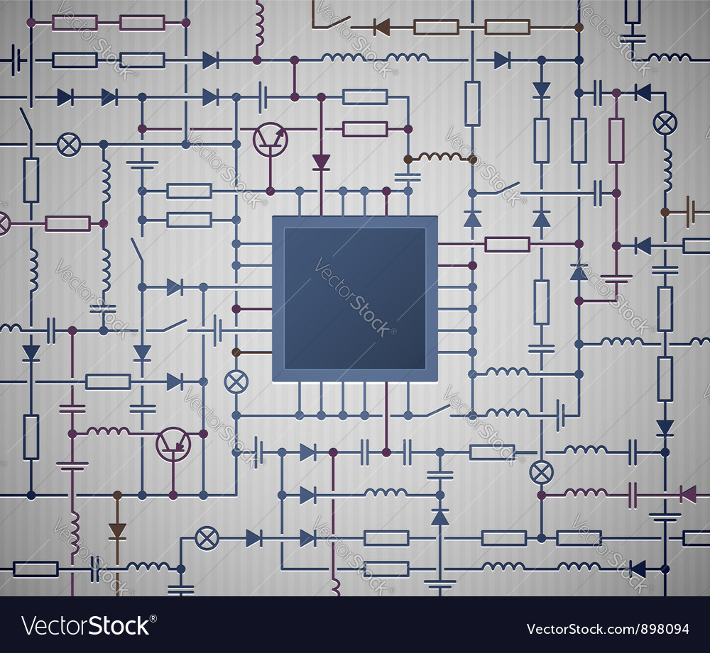 Electrical circuit diagram vector | Price: 1 Credit (USD $1)