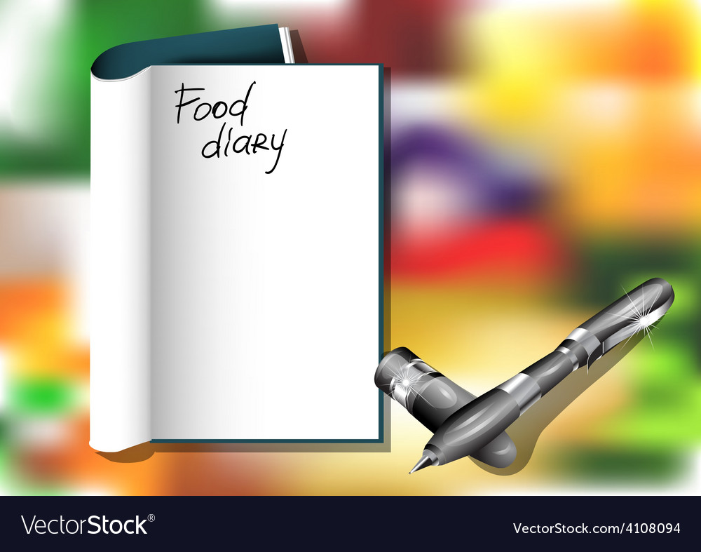 Food diary vector | Price: 1 Credit (USD $1)