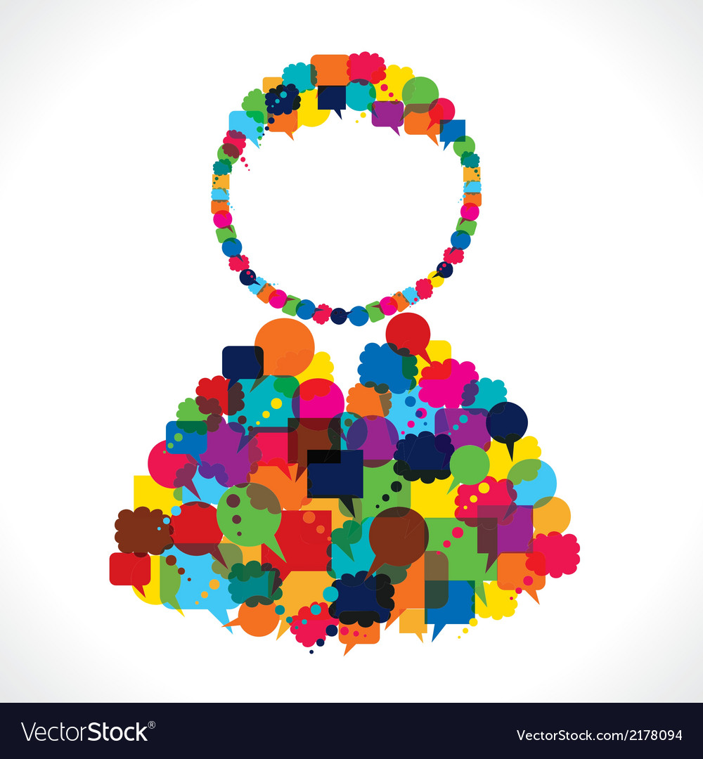 Group of message bubble make user shape vector | Price: 1 Credit (USD $1)