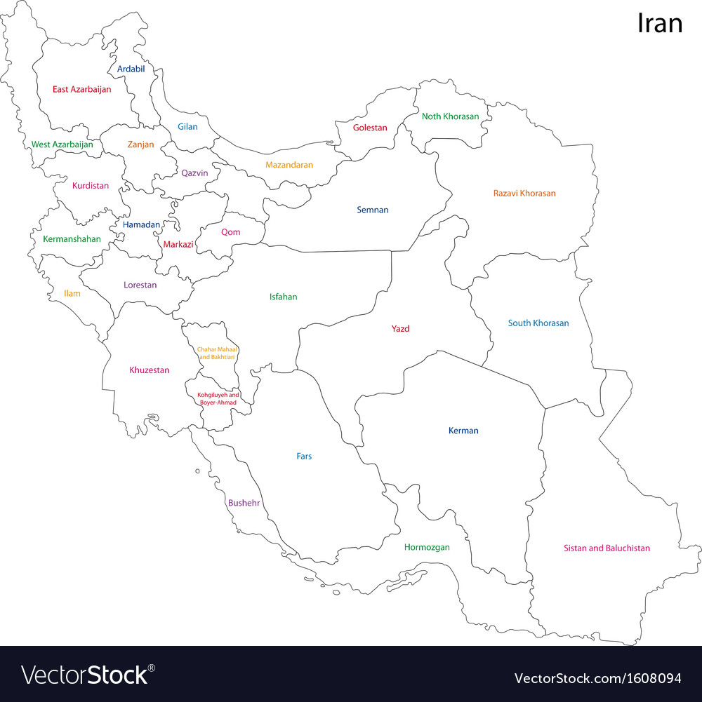 Iran map vector | Price: 1 Credit (USD $1)