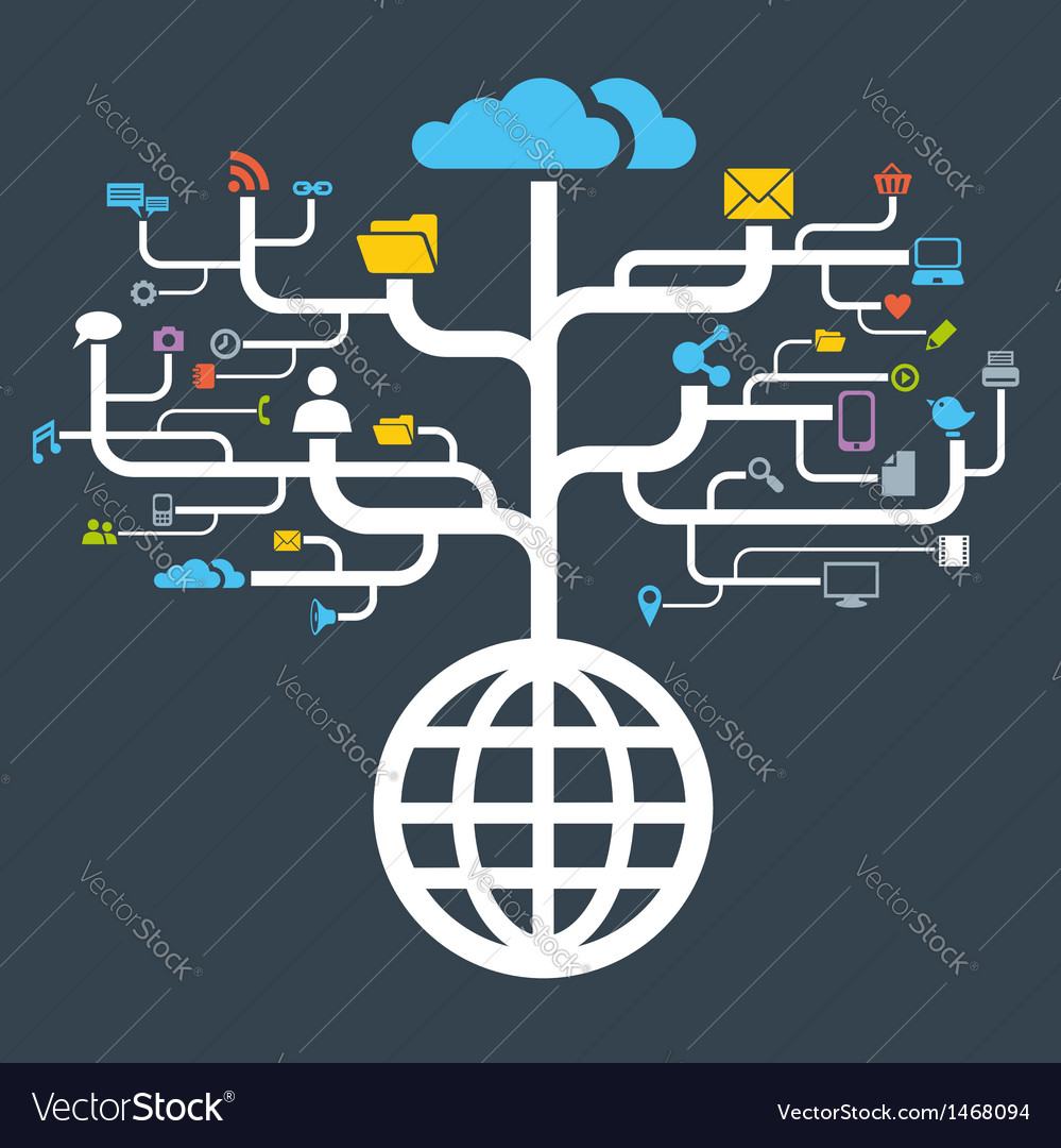 Network globe worldwide vector | Price: 1 Credit (USD $1)