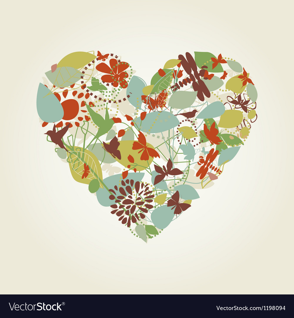 Plant heart vector | Price: 1 Credit (USD $1)