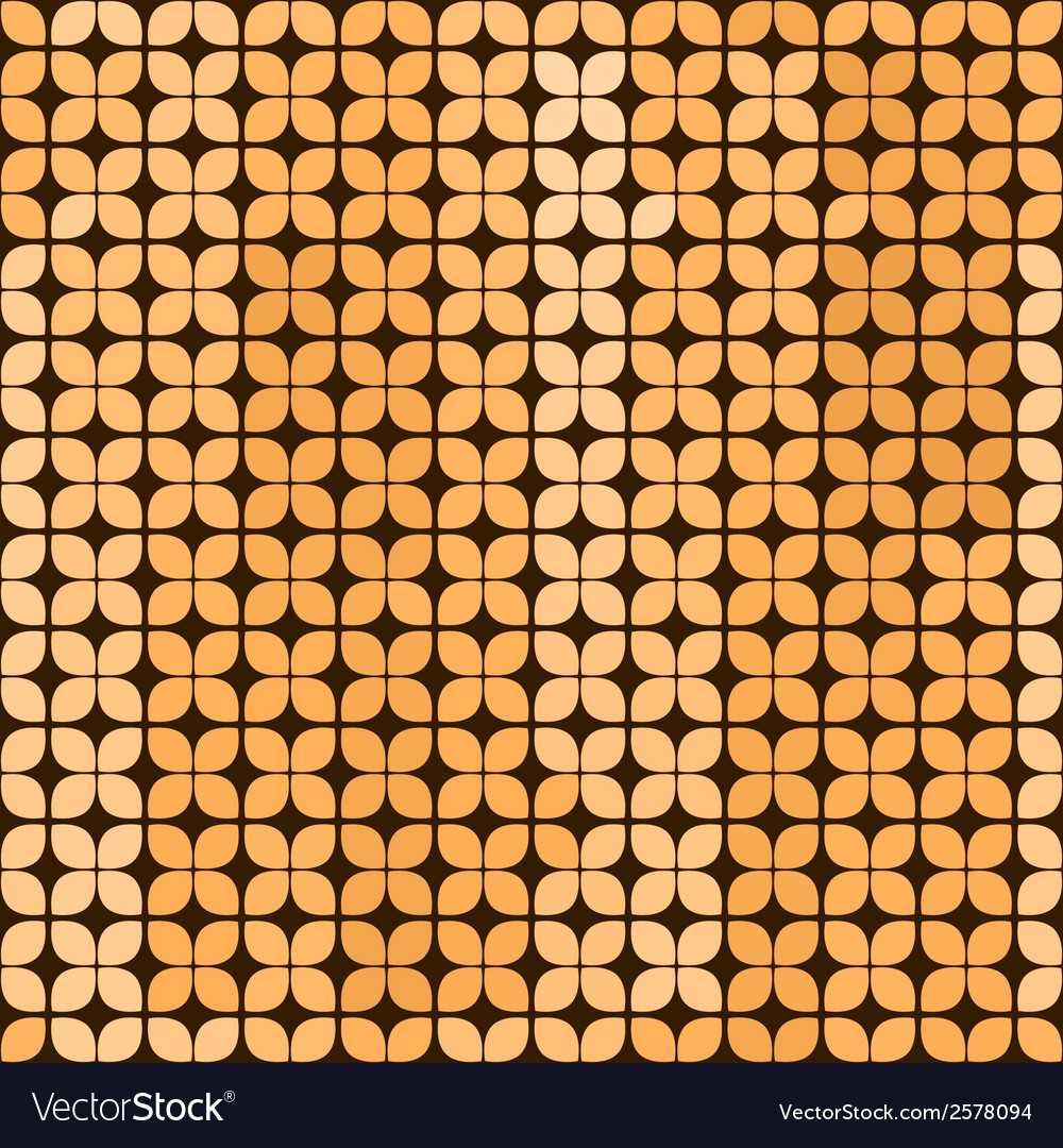 Seamless abstract background in yellow and brown vector | Price: 1 Credit (USD $1)