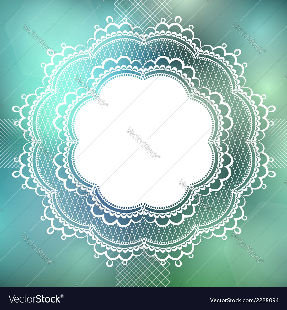 Vintage lace border vector | Price: 1 Credit (USD $1)