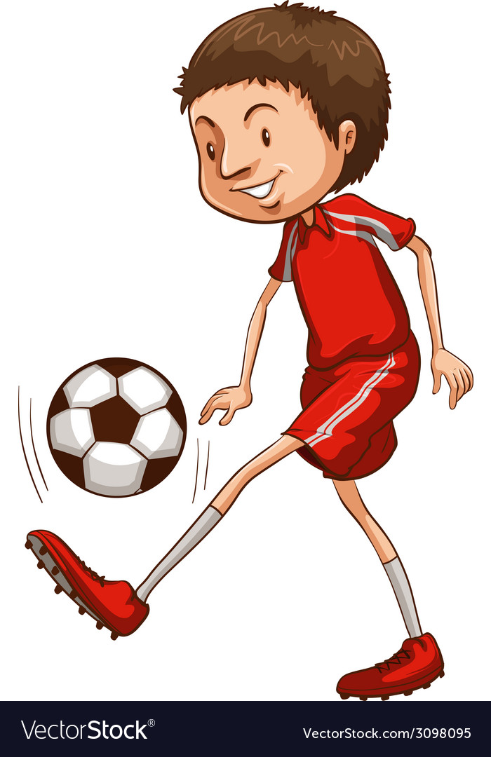 A young soccer player vector | Price: 1 Credit (USD $1)