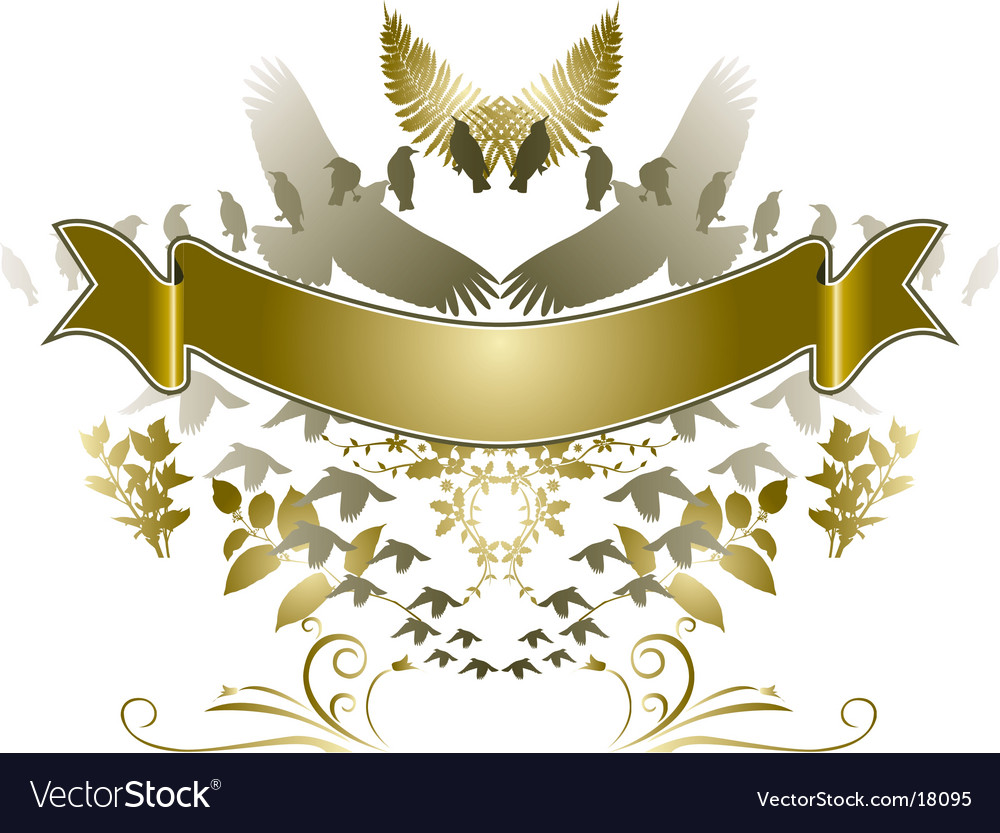 Birdsbanner vector