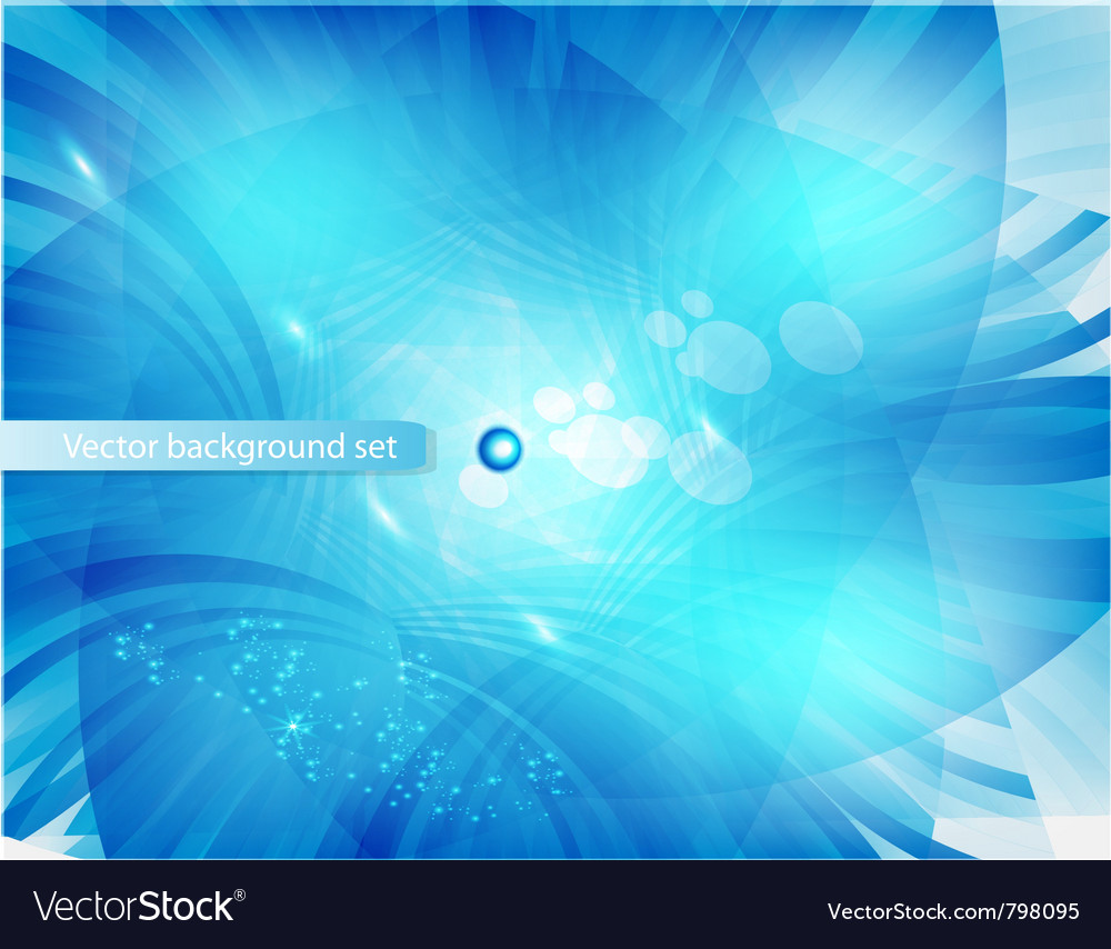 Blue circle card abstract water vector | Price: 1 Credit (USD $1)