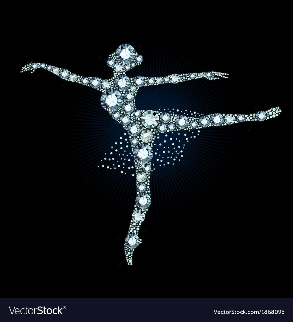 Diamond ballet dancer vector | Price: 1 Credit (USD $1)